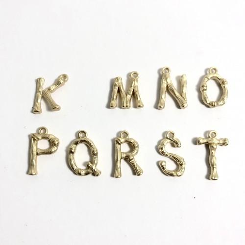Letras doradas metal bambú mini