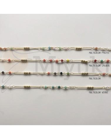 Cadena cristales multicolor...