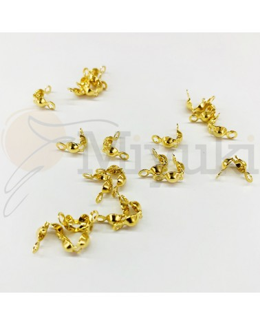 Tapanudos acero dorado